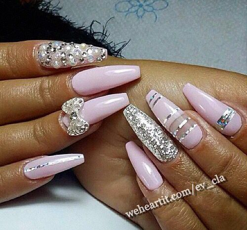 Pink bow diamond stripe coffin nails nails pinterest coffin pink bow diamond stripe coffin nails prinsesfo Gallery