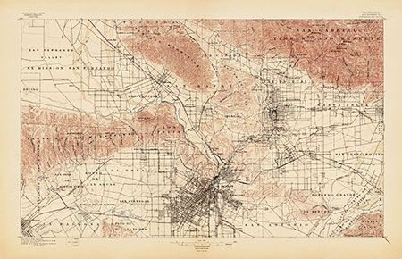 USGS Topographic Map Of Los Angeles Usgs Topographic Maps - Los angeles topographic map