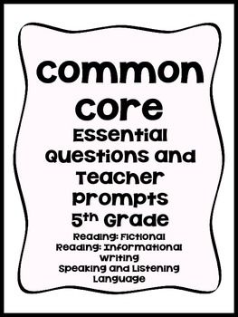 5th Grade Common Core 5th Grade Questions that correspond