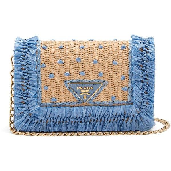 e5750538dfdb2 ... best price prada polka dot raffia and leather cross body bag 1730 liked  0695e c6d33 ...