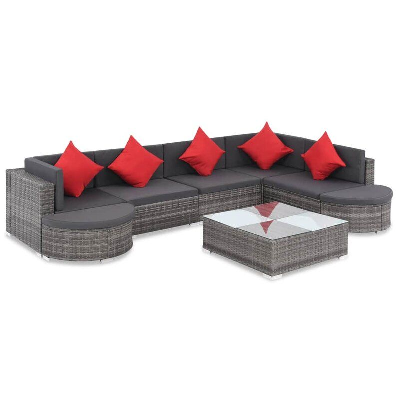Whitby Outdoor 8 Piece Sectional Seating Group With Cushions With