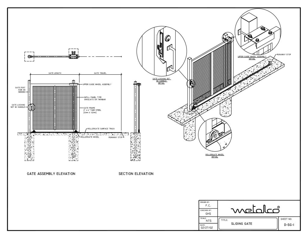 Gate System Cad Drawings