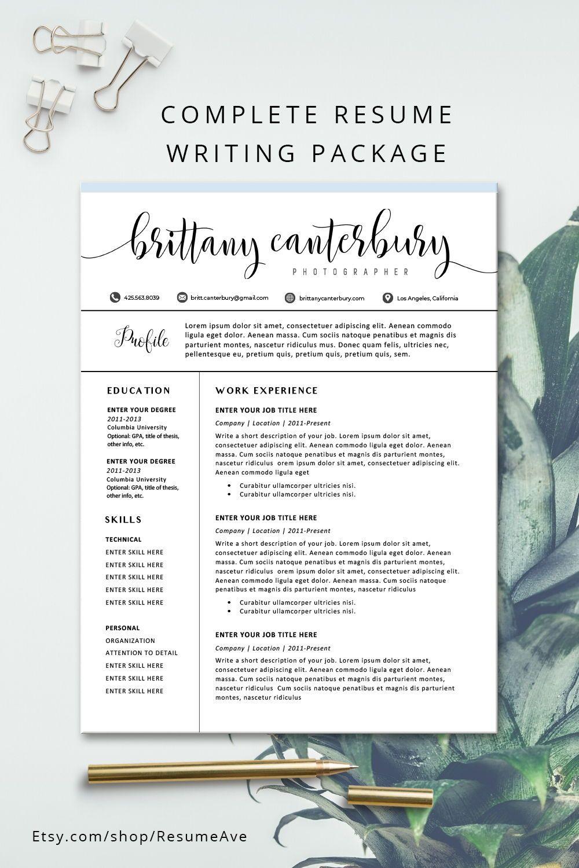 Modern resume template modern resume design for word 1
