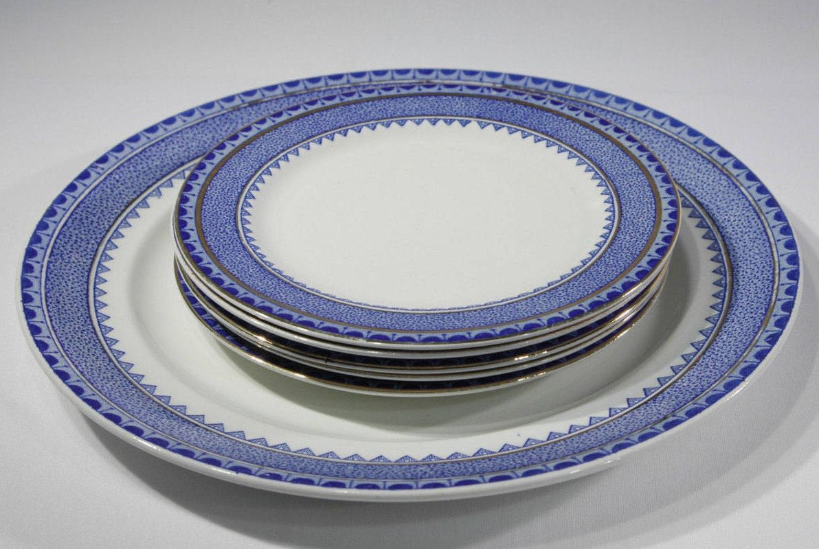 Vintage English Princess China Plates Blue and White Serving Dishes Replacement China by SeRepete on Etsy & Vintage English Princess China Plates Blue and White Serving Dishes ...