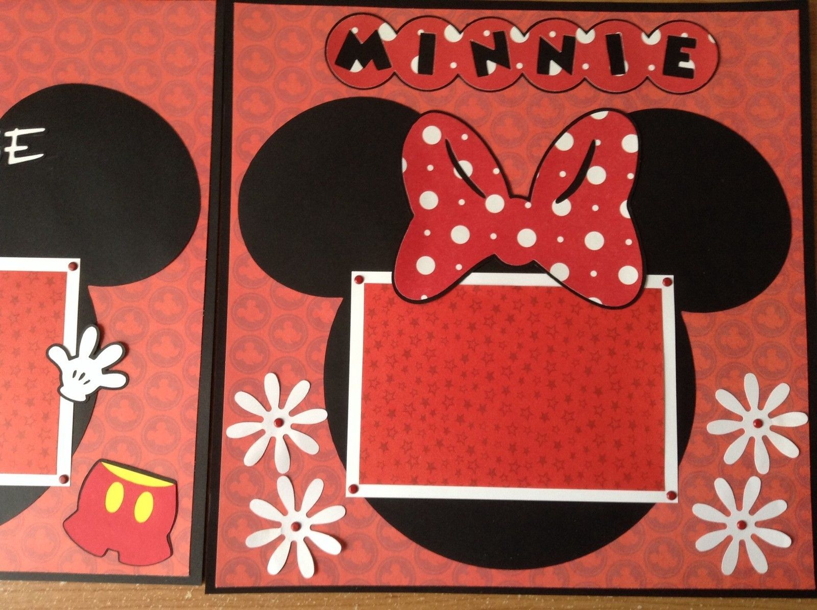 Disney Mickey Mouse Minnie Mouse Premade Layout Scrapbook Pages