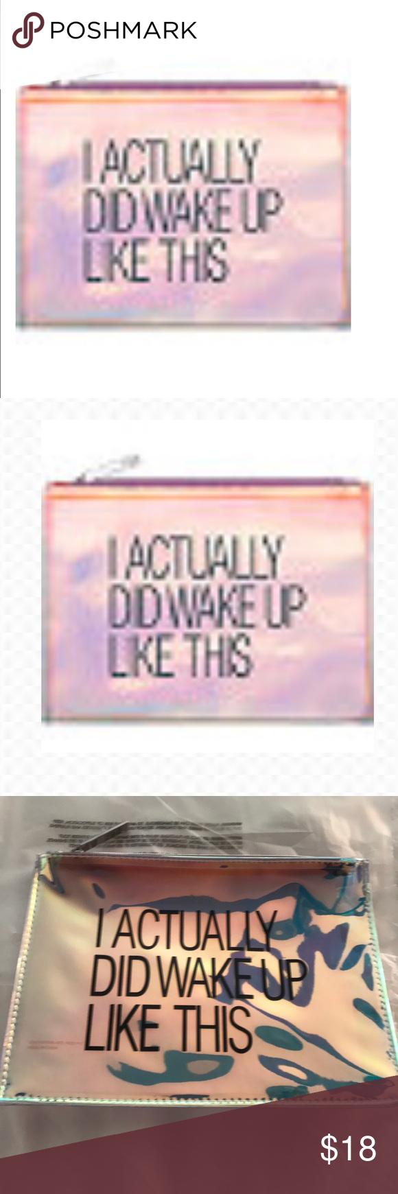 NEW💥 IRIDESCENT COSMETIC BAG Cosmetic bag, Sephora bag