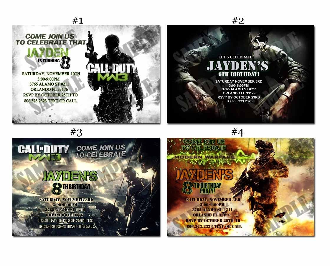 Call of duty modern warfare 3 black ops cod custom birthday party call of duty modern warfare 3 black ops cod custom birthday party invitations 999 filmwisefo Image collections