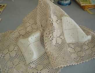 esquemas para quadrados toalhas de renda - Pesquisa Google