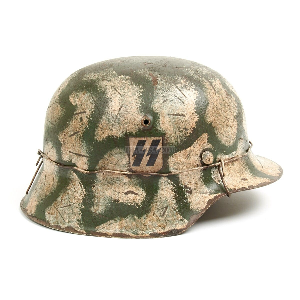 Original German WWII M42 Refurbished Leningrad Winter Helmet