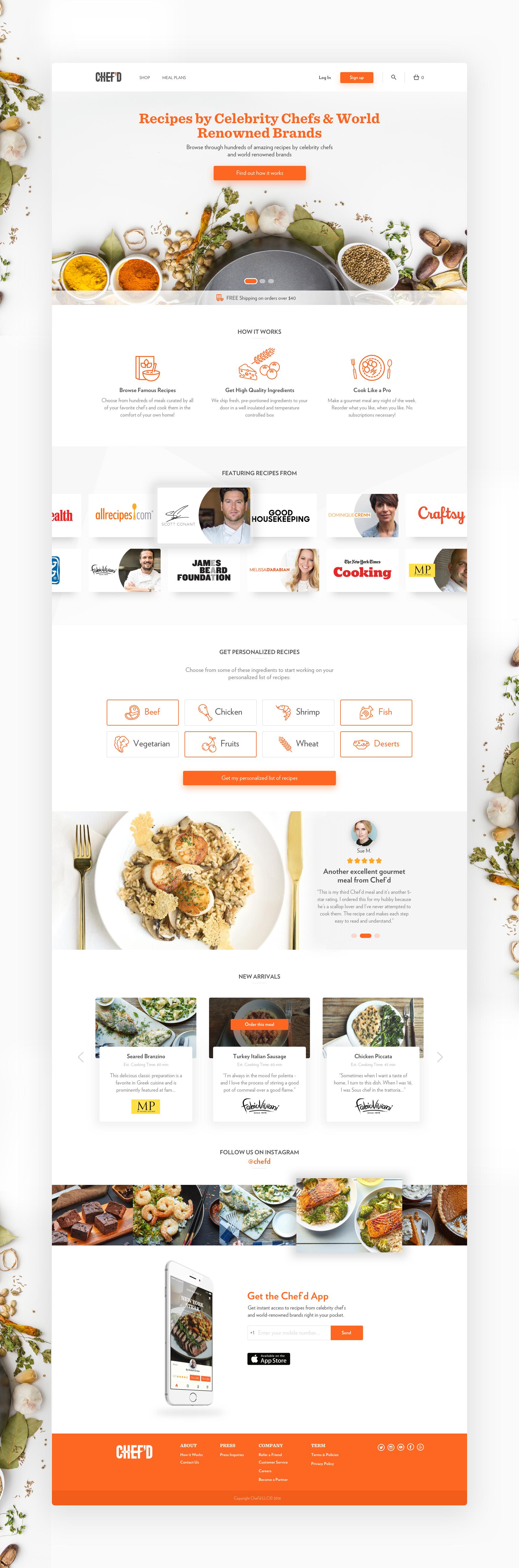 Carousel Slide Design Chefd Jm Conceptv1 Food Web Design Restaurant Website Design Web Layout Design