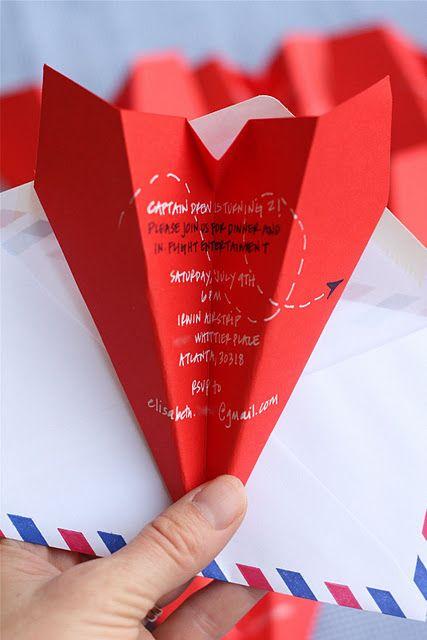Paper Airplane Invite