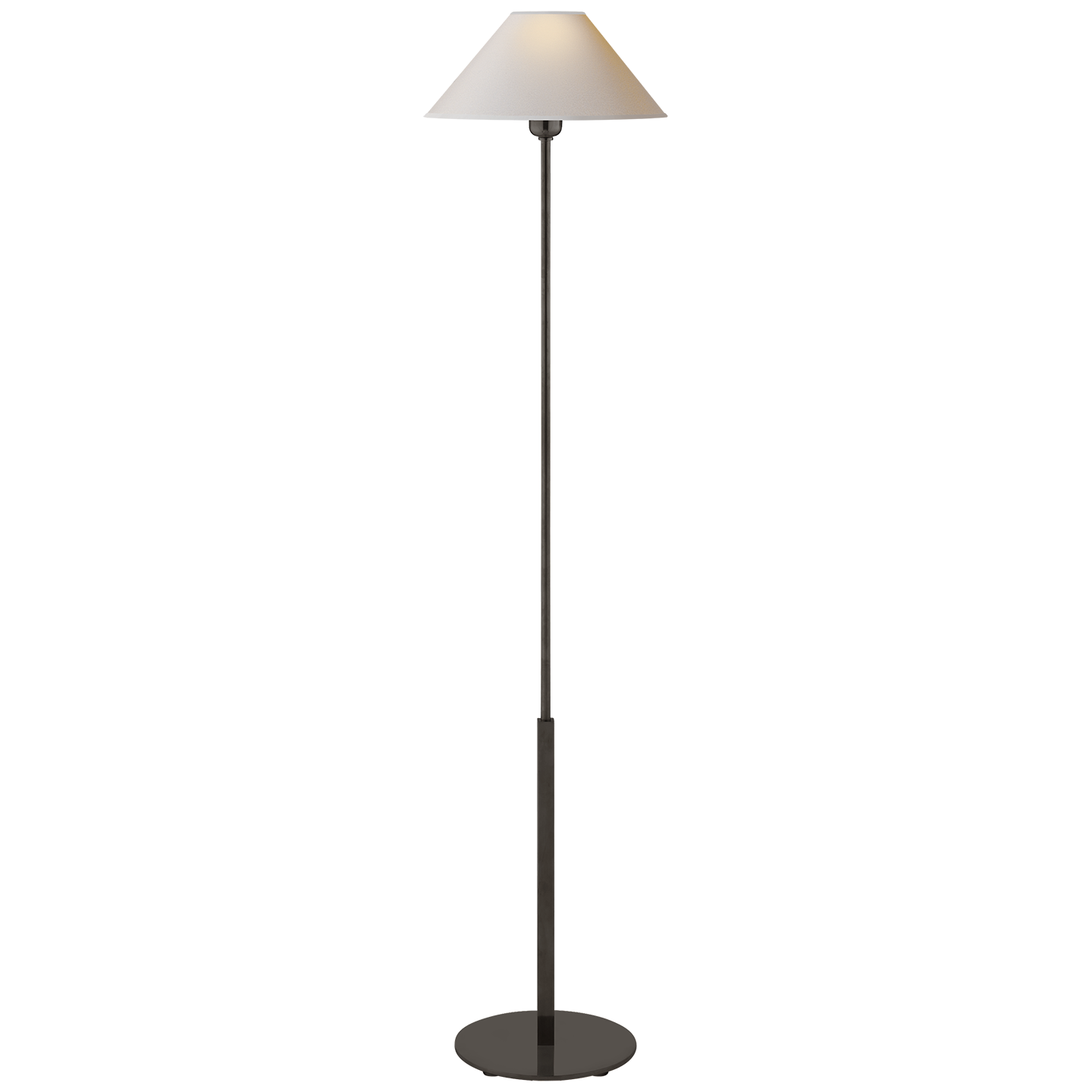 Paper Shade Floor Lamp Enchanting Hackney Floor Lamp In Handrubbed Antique Brass With Natural Paper Inspiration Design