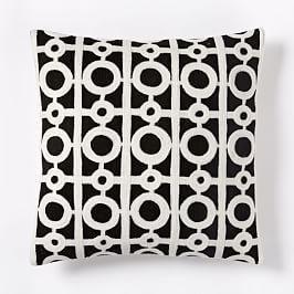 Wallace Sewell Kente Crewel Cushion Cover | Lattice pillow