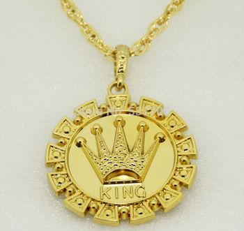 New 2014 men hip hop rap 18k gold king crown pendant statement long new 2014 men hip hop rap 18k gold aloadofball Gallery