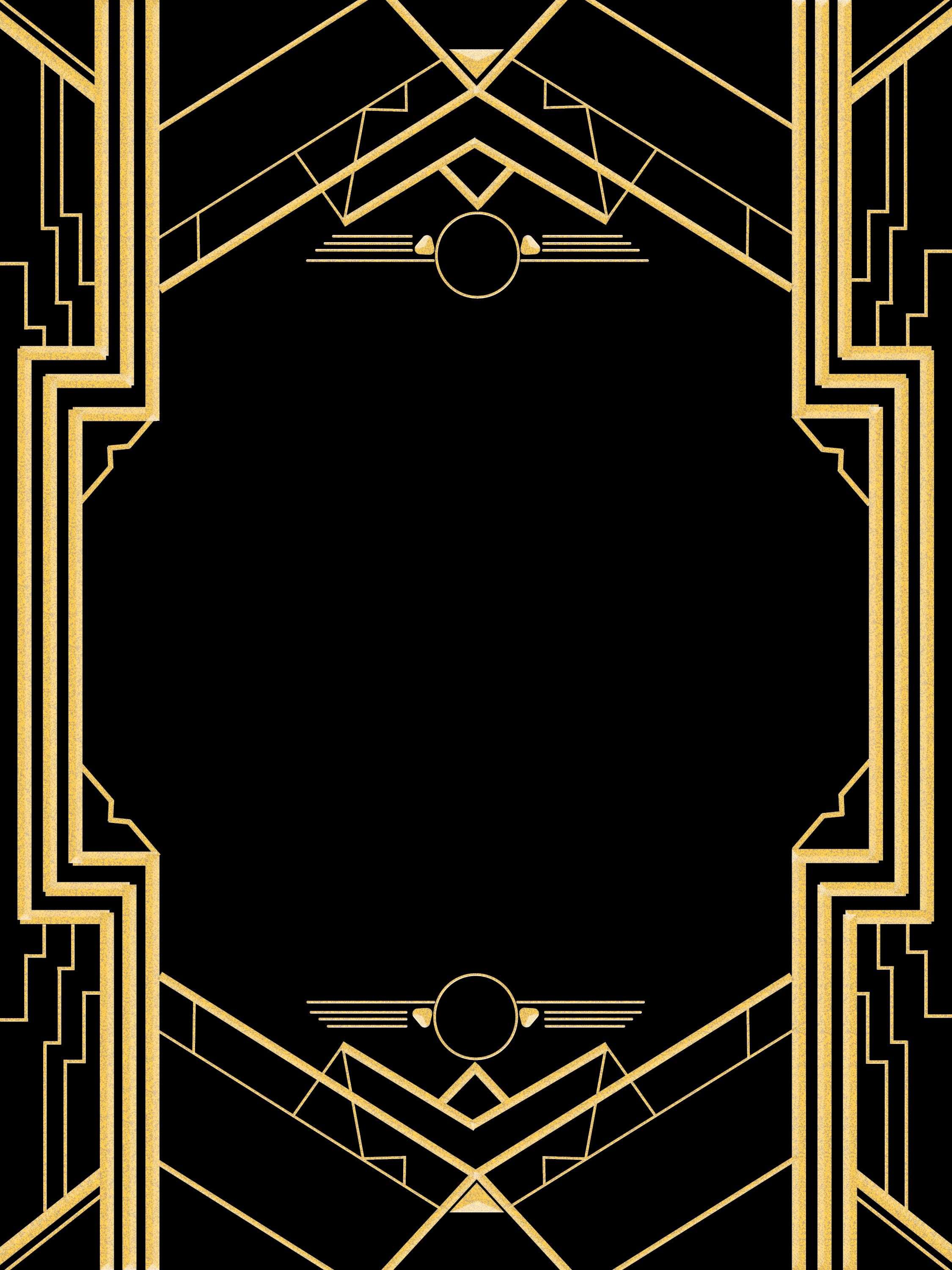 Great Gatsby Invitation Templates Blank  Fête gatsby le