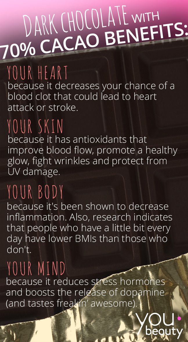 The Health   Beauty Benefits of Dark Chocolate (Infographic) www.greennutrilabs.com