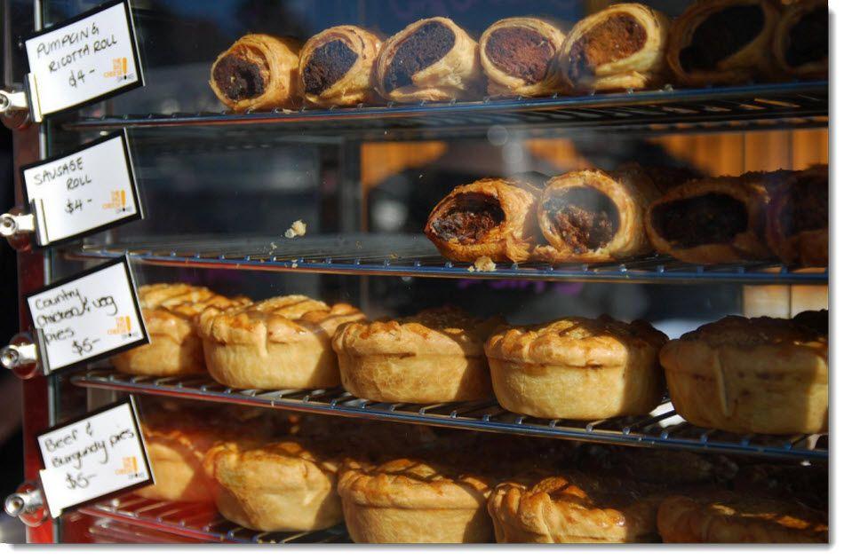 Australian pies & sausage rolls, great with tomato sauce !!