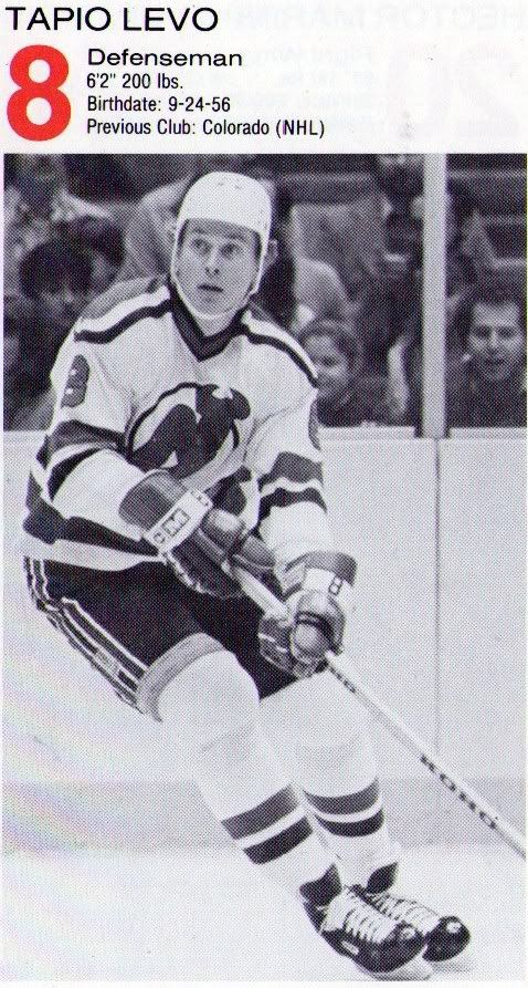 on sale 16a9a e027f Tapio Levo (Colorado Rockies 1981-82, New Jersey Devils 1982 ...