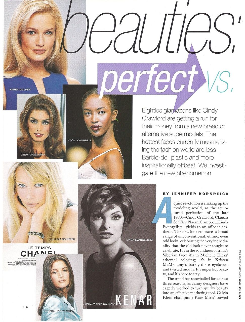 90s supermodels: karen, cindy, naomi, linda, stephanie