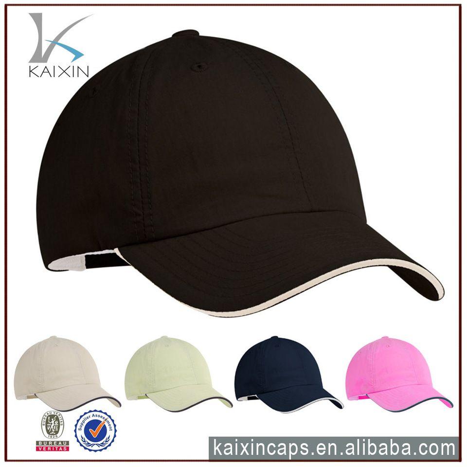 Whole Black Cotton Polyester Fabric Sandwich Brim Promotional Baseball Cap And Hat Heavy Cotton Sandwich Bill Baseball Hat