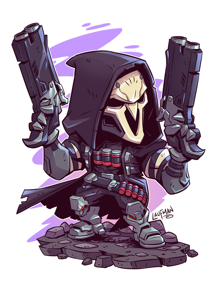 Chibi Reaper By Dereklaufman Deviantart Com On Deviantart Chibi Marvel Chibi Overwatch Chibi Characters