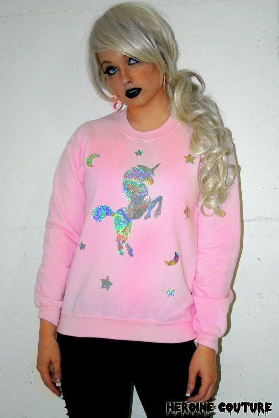 Custom Color Holographic or Foil Unicorn by ShopHeroineCouture, $49.00