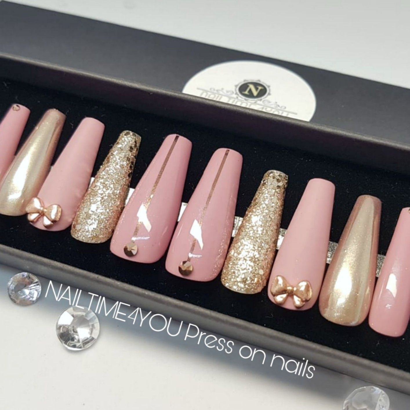 Chrome Mauve Press On Nails Acrylic Nails False Nails Press On Coffin Fake Nails Nails In 2020 Press On Nails Glue On Nails Fake Nails