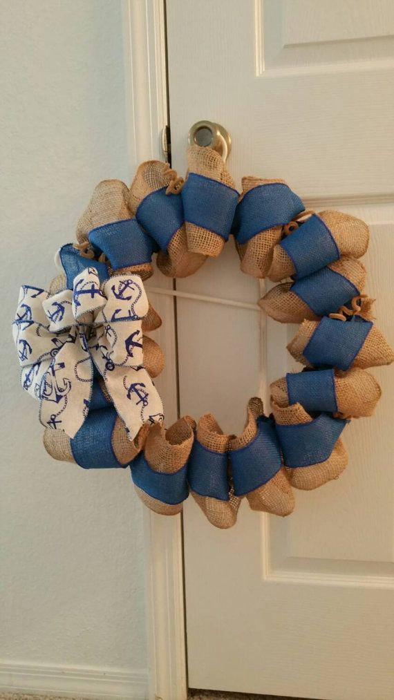 Check out this item in my Etsy shop https://www.etsy.com/listing/256734131/decorative-anchor-wreath