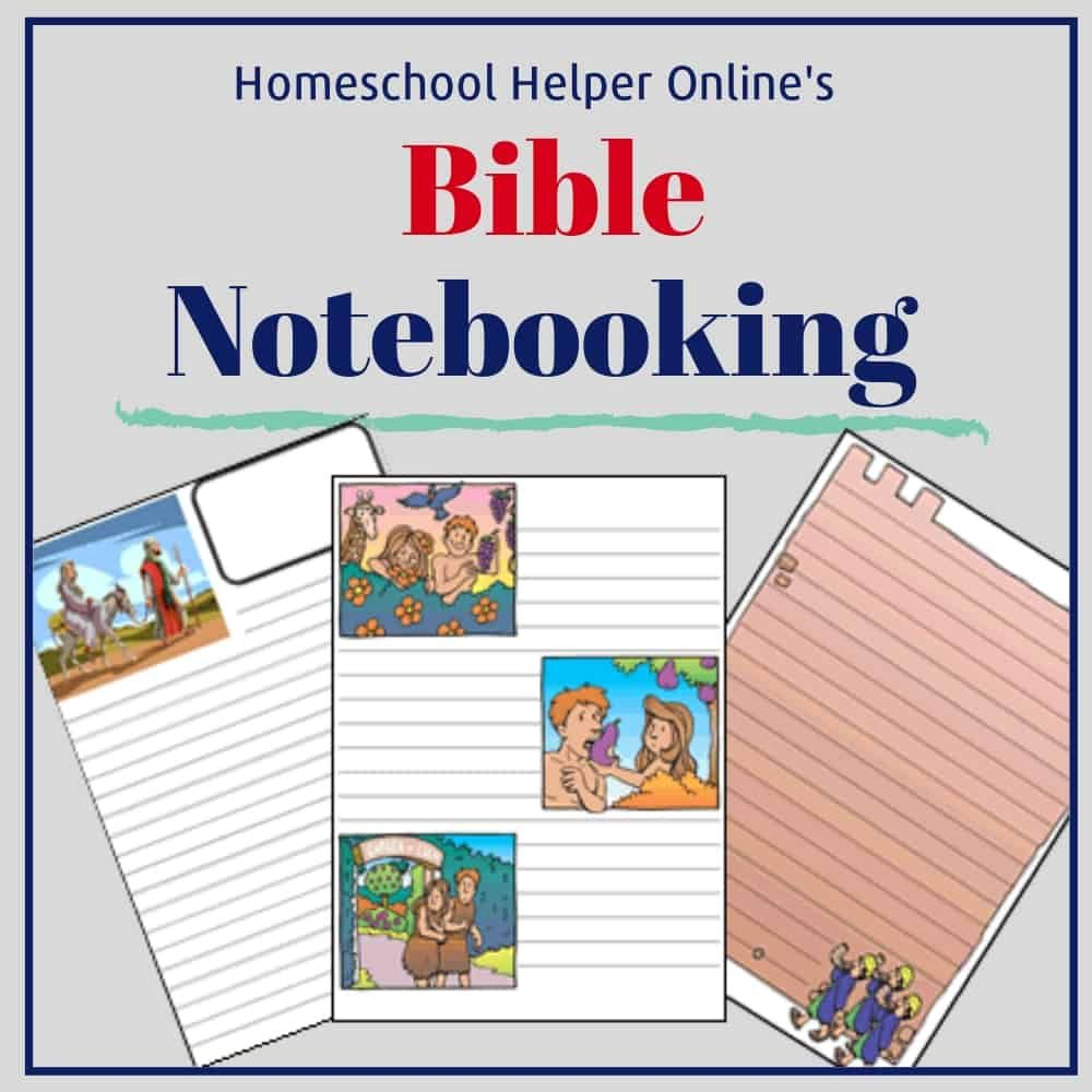 Bible Notebooking Pages Homeschool, Bible for kids