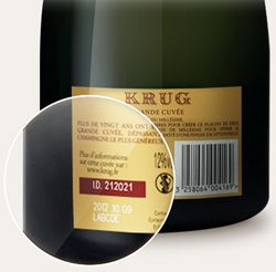 Krug I.D. Find it on your bottle and look up the story