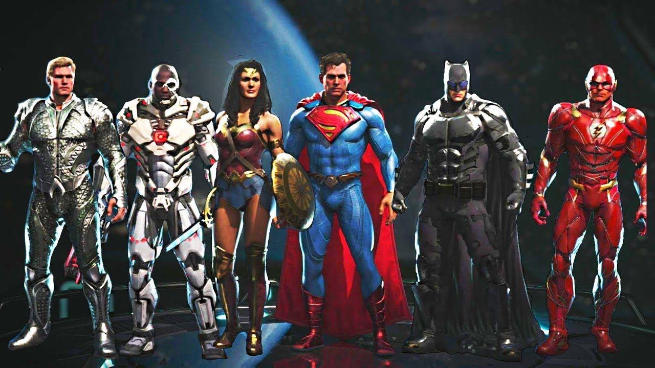 Injustice 2 All Justice League Movie Gear Intros Clash Quotes And S Justice League Injustice 2 Justice League Of America