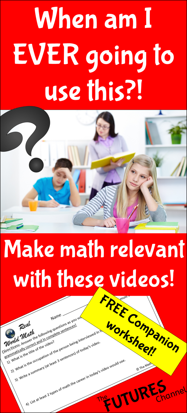 Here are some great videos of math in the real world. Students are always asking why they need math, so show them why with these math videos and free printable! #mathintherealworld