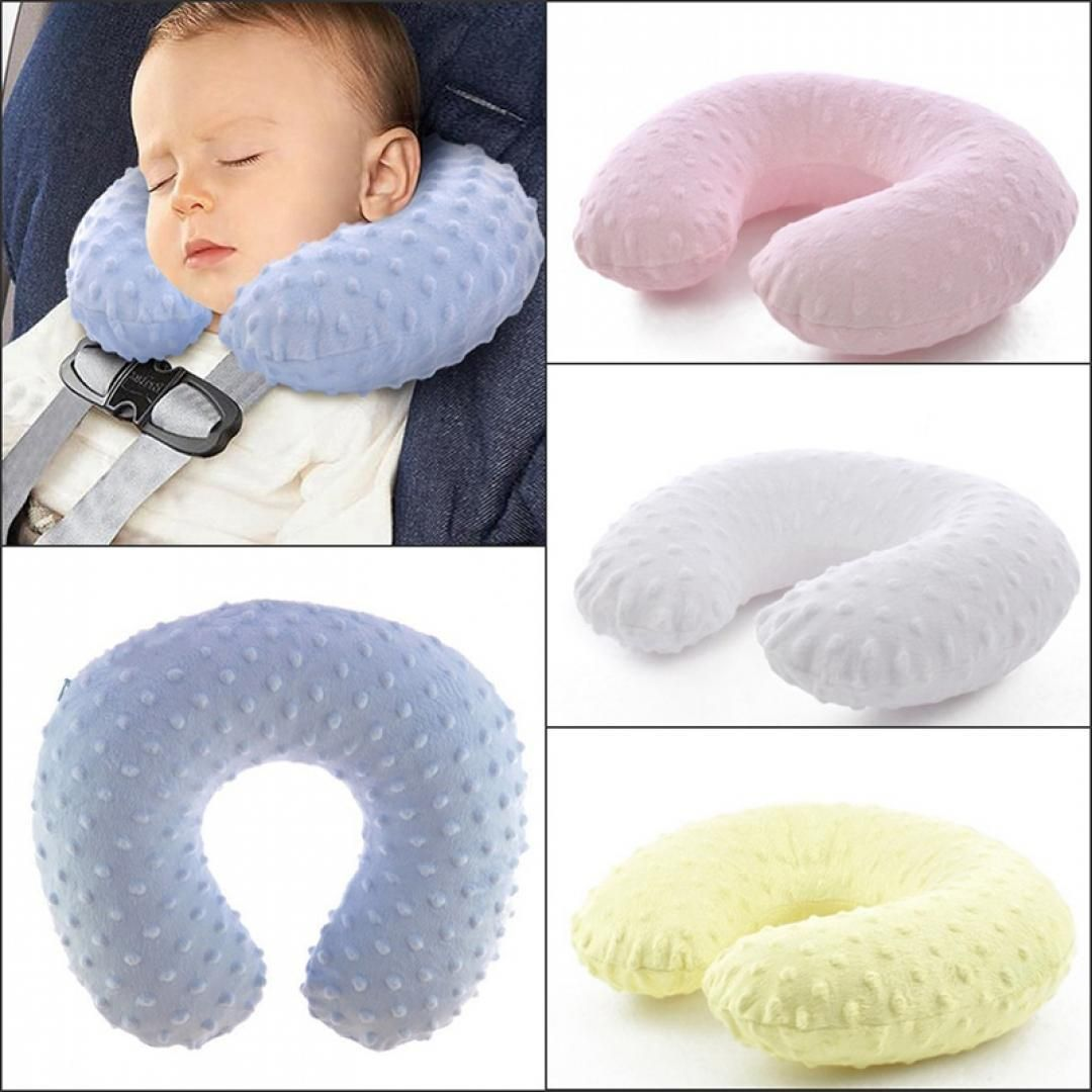 Household Product Colors Soft U-Shaped Sleep Neck Protection Pillow Cover Breastfeeding Cushion Cute Travel Pillows for Children//Adults