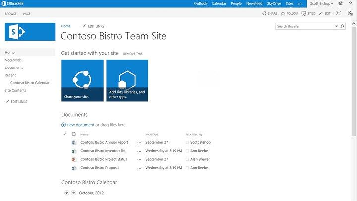 Start Using Your Team Site Onedrive For Business And Newsfeed To