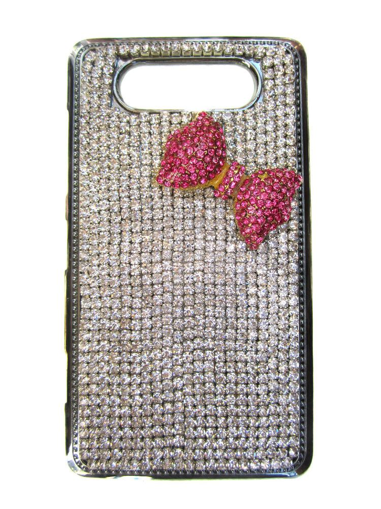Nokia Lumia 820 Glitzy Bling Genuine Crystal Phone Case Cover. Over 800 Crystals
