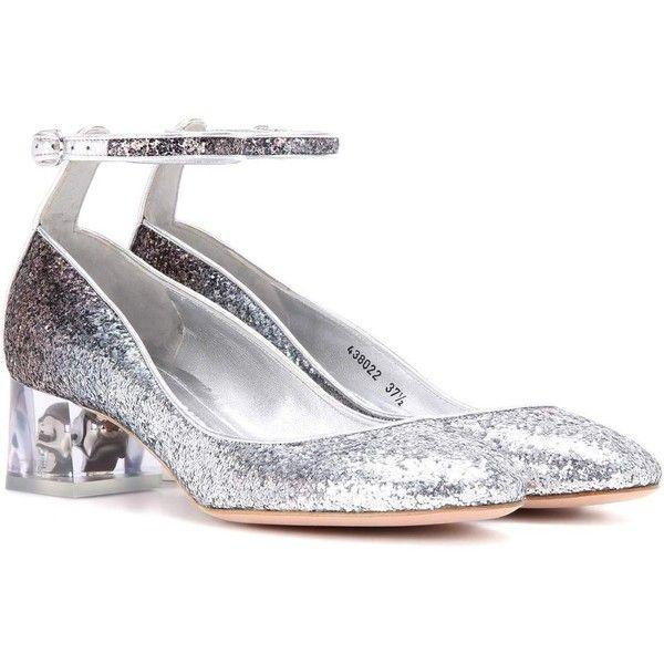 5781efd8184f Alexander McQueen Glitter Pumps (11 785 UAH) via Polyvore featuring shoes