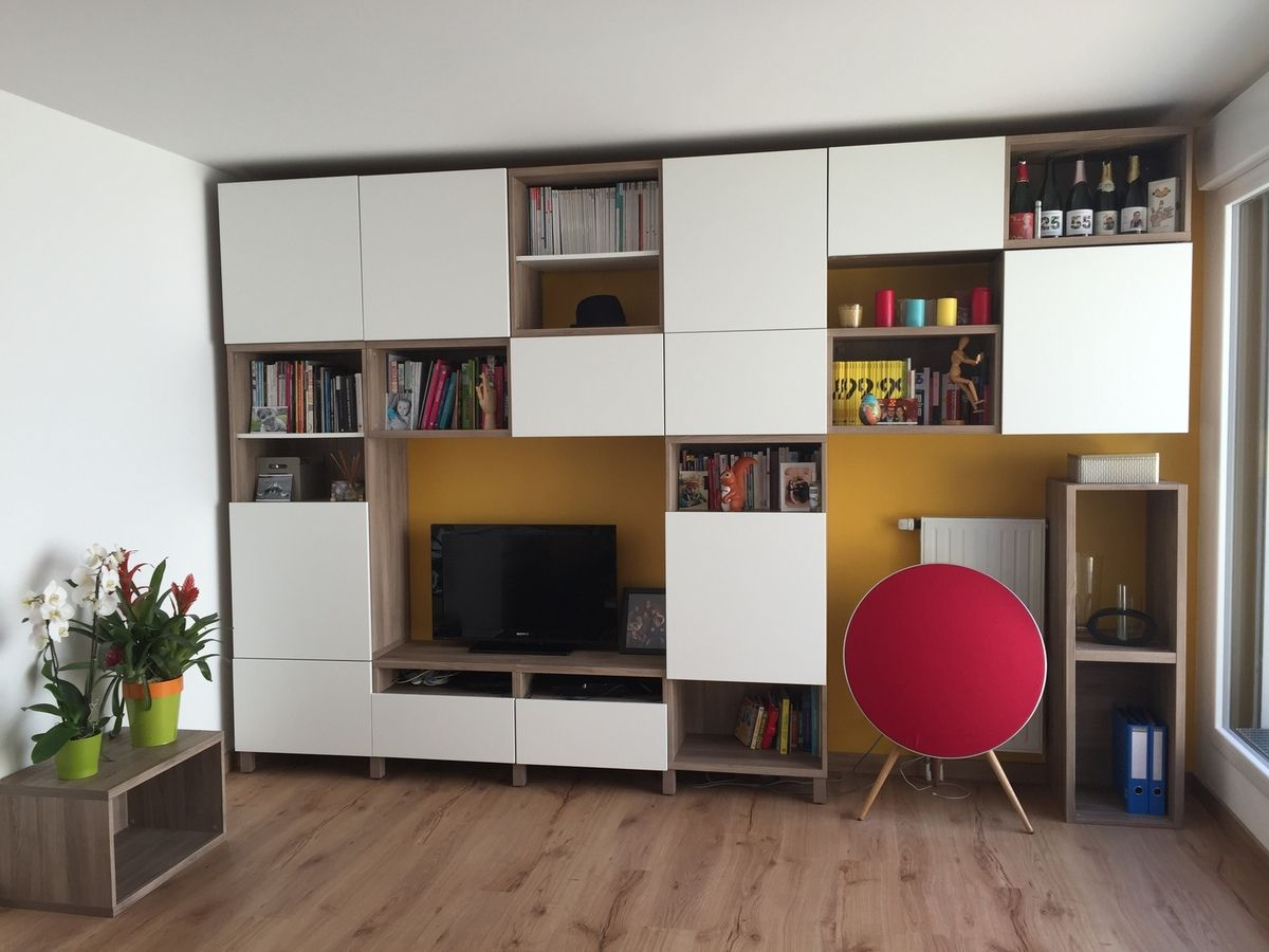 album 4 banc tv besta ikea r alisations clients. Black Bedroom Furniture Sets. Home Design Ideas
