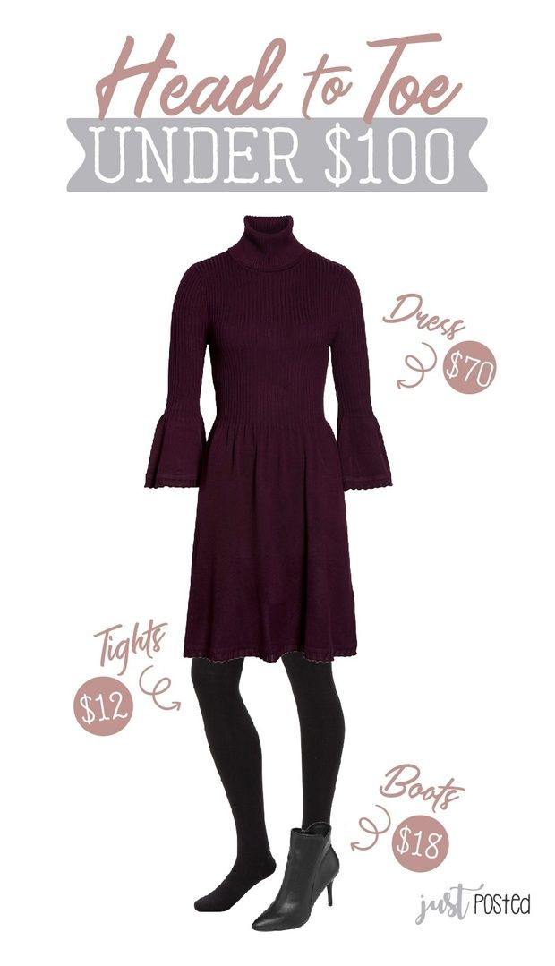 291f5e4b056f0 Need an entire new look from Head to Toe for under $100 for the  Holidays??!! I love that this dress has long sleeves with a great bell at  the end!