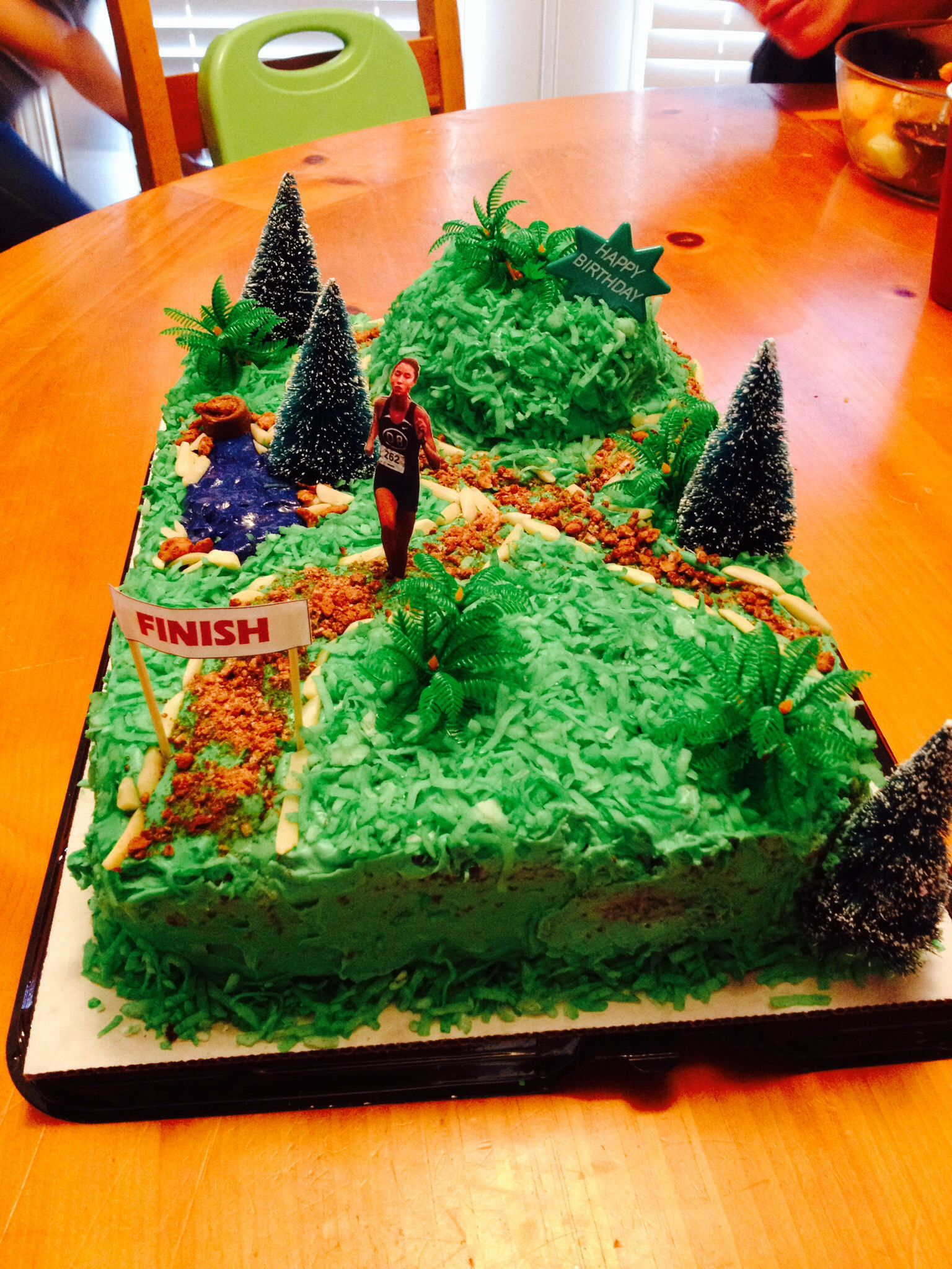 Cross Country Track Cake