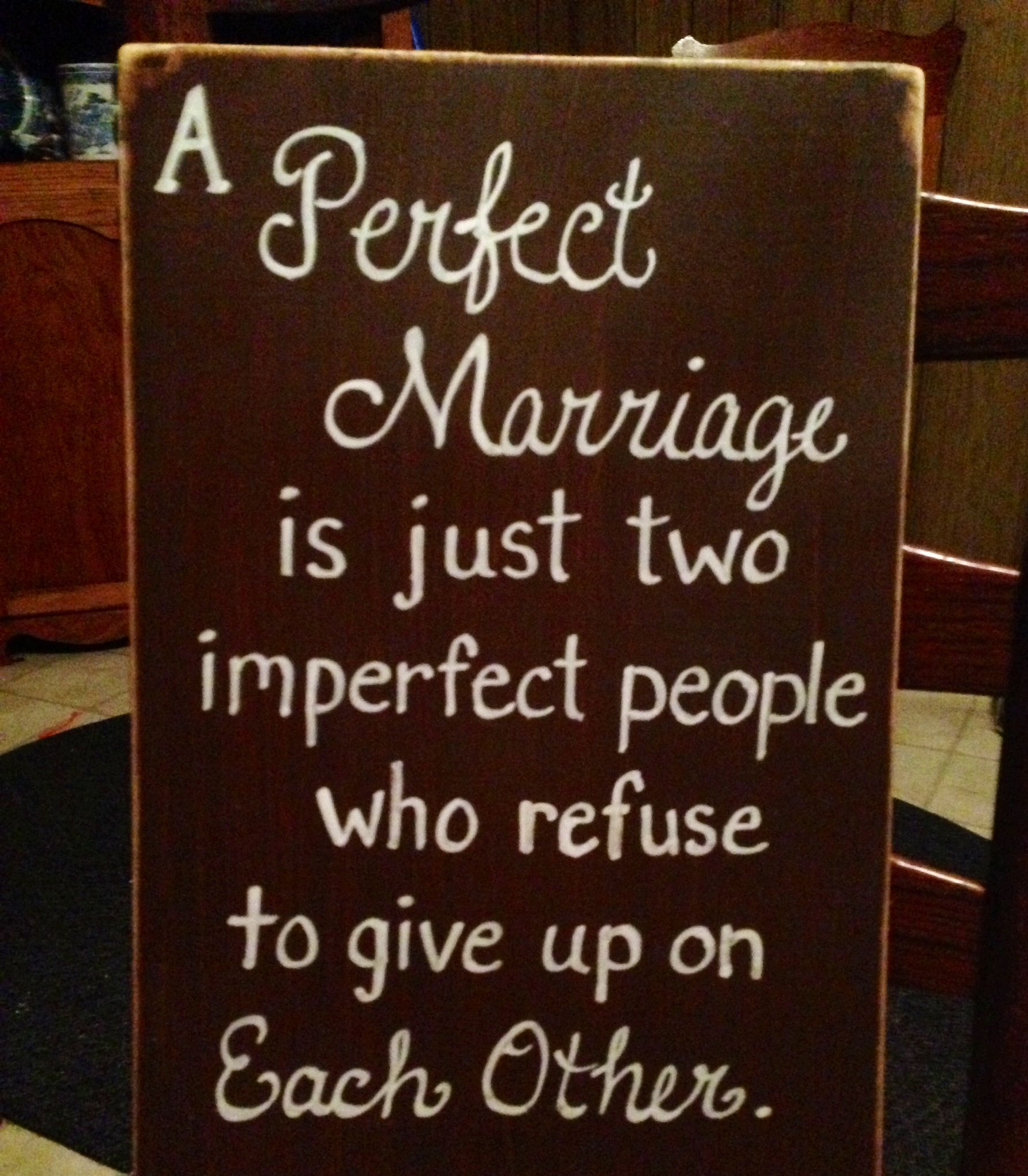 Perfect marriage sign. It can also have names added to the bottom.