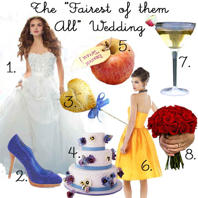 three little bhos snow white fairest of them all themed wedding mood board soo cute