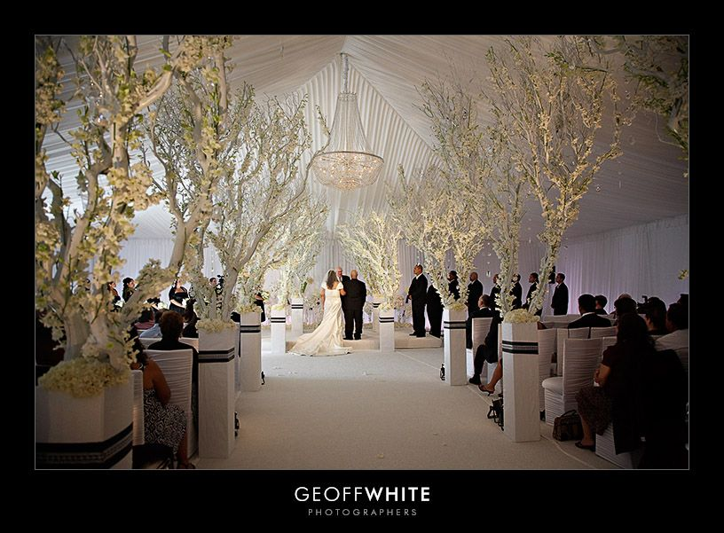 Totally insane ceremony decor. Complete transformation of a space. I ...