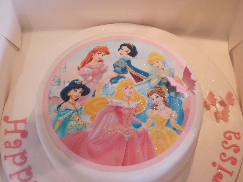 One Tier Disney Princess Birthday Cake Neo Cakes With Images