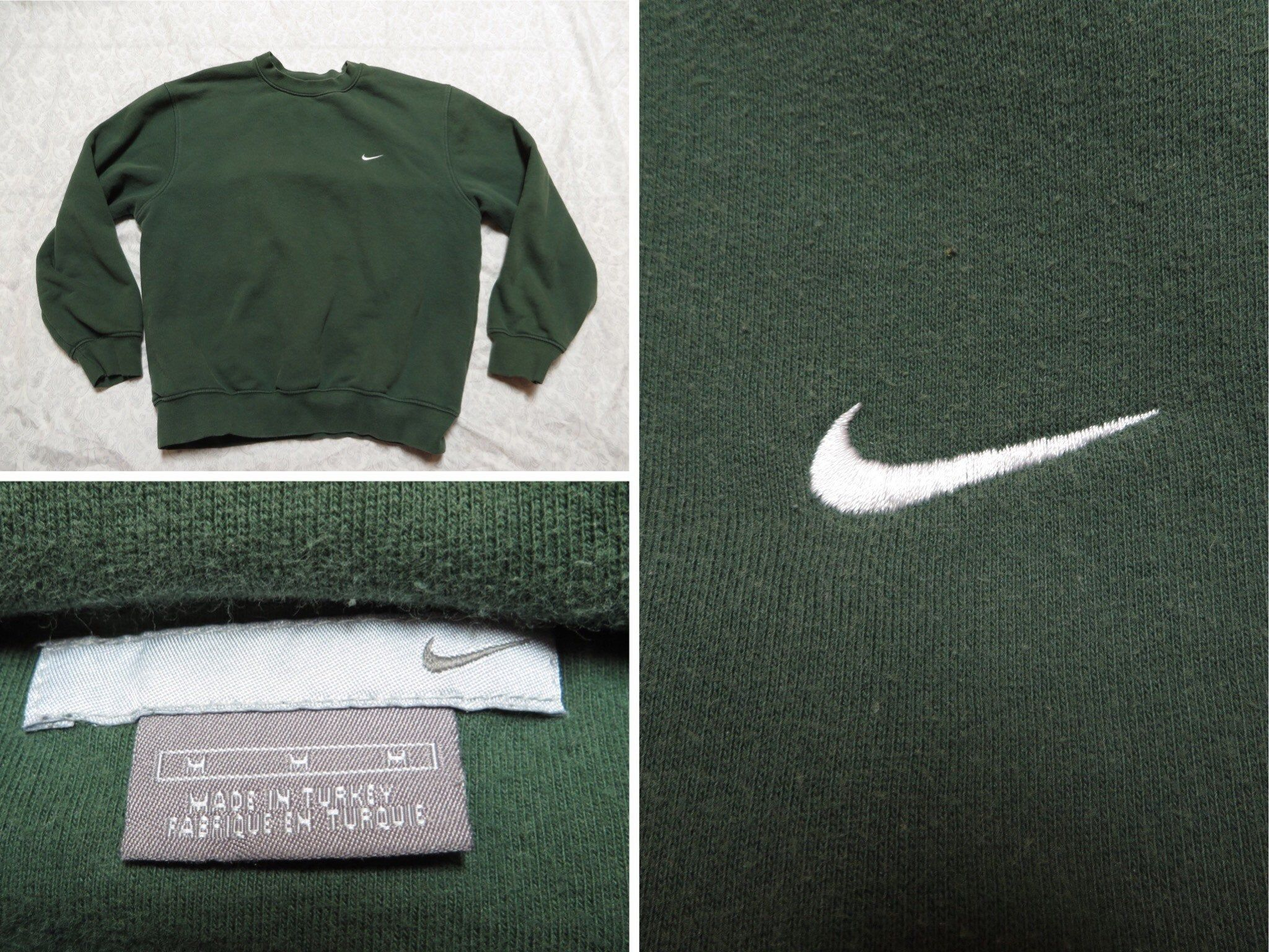 Vintage Nike Sweatshirt Green Crewneck White Embroidered Swoosh Logo 2000 S Men S Oversized Medium By Gentl Vintage Nike Sweatshirt Green Crewneck Vintage Nike [ 1536 x 2048 Pixel ]