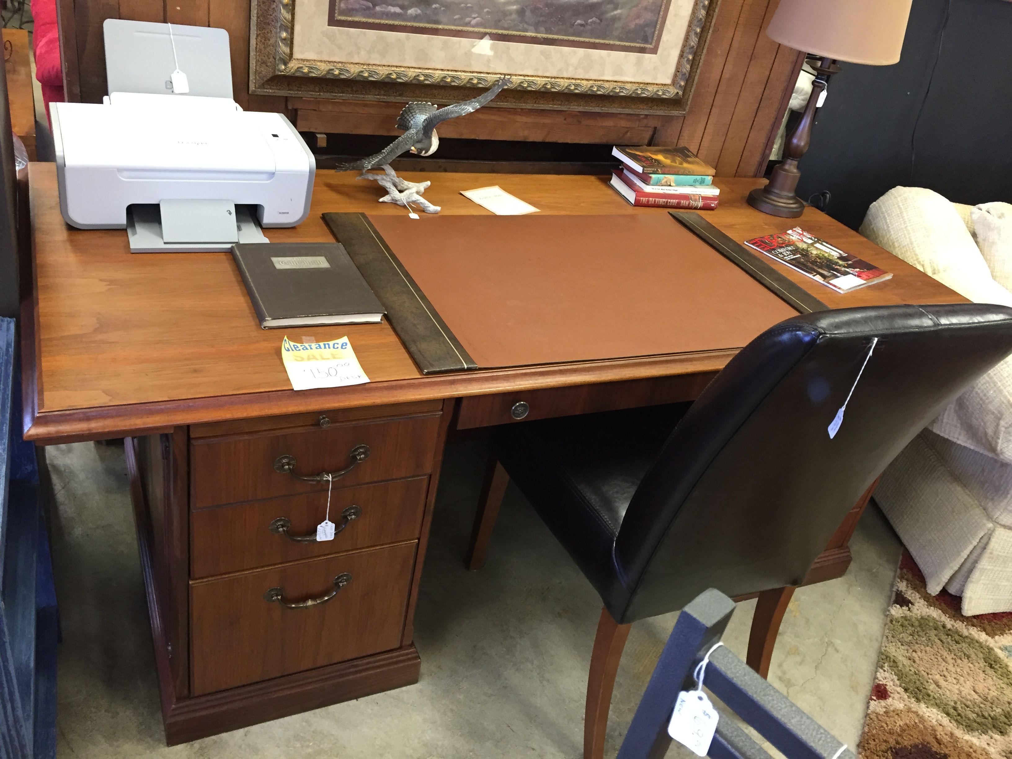 750 00 Regular Large Stunning Caramel Brown Wood Desk Was 1500