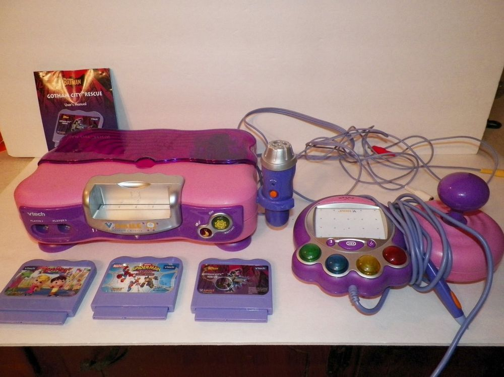 Vtech V Smile Tv Video Learning Game System Console W Controllers