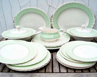 Dinner Set Tuin : Free worldwide shipping. vintage cream petal grindley england