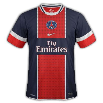 396910ee8dfd8 Photo   Maillot domicile du PSG 2012-2013