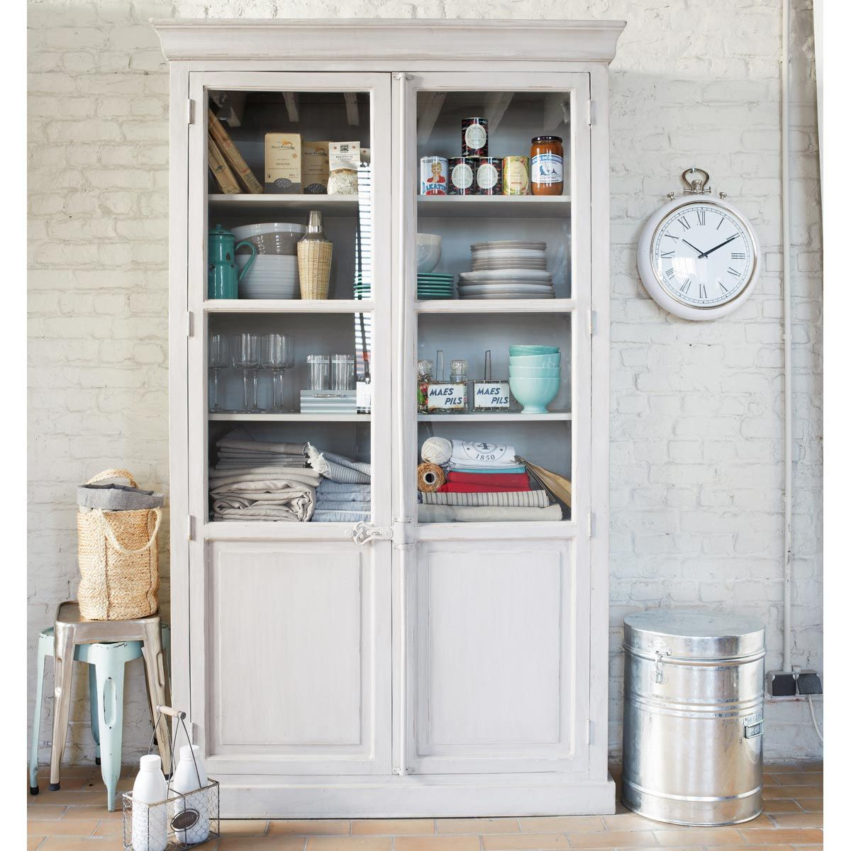Vitrina blanca martigues home pinterest vitrinas - Muebles el rastro ...