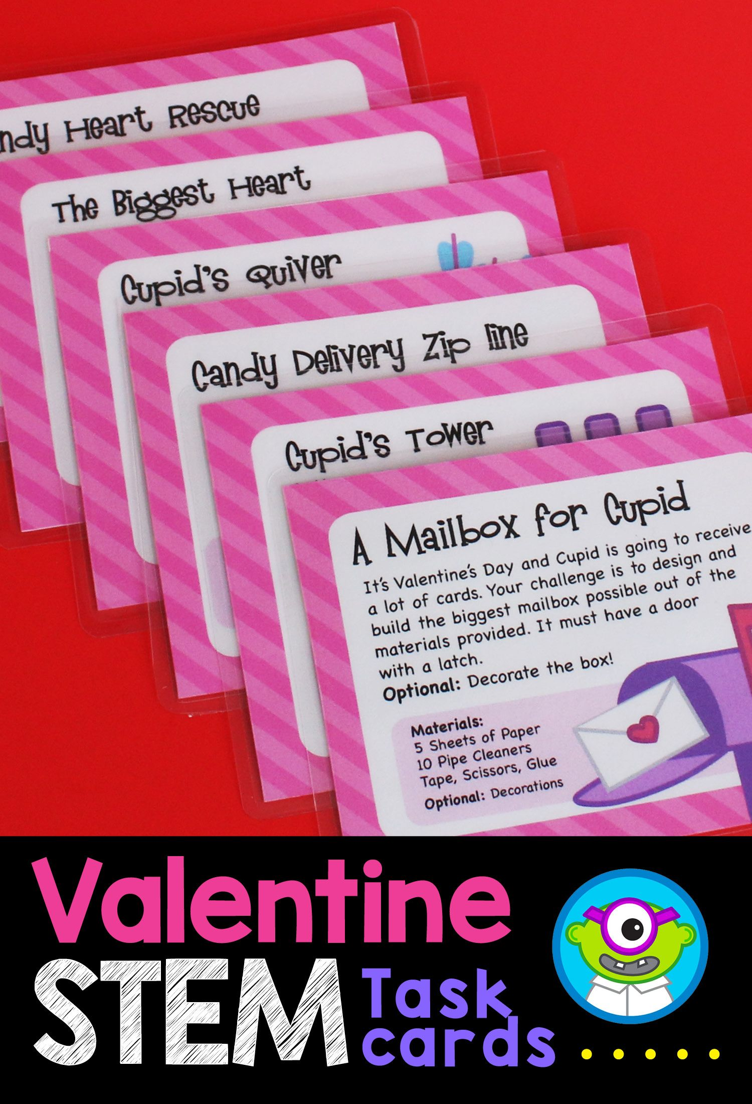 Valentine S Day Stem Activities Task Cards February